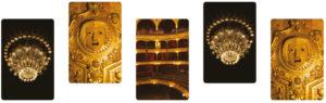cartes cadeaux avec des photos de détails du Théâtre du Châtelet